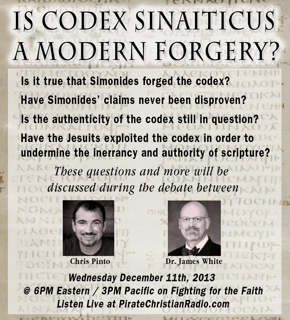 Very Important Debate Today on Fighting for the Faith