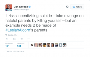 The Vile Hate Mongering of Dan Savage