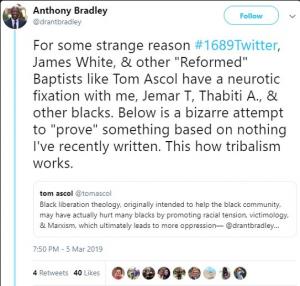 Dr. Anthony Bradley's Vitriolic Anti-Reformed Baptist Explosion