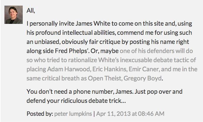 Open Invitation to Peter Lumpkins