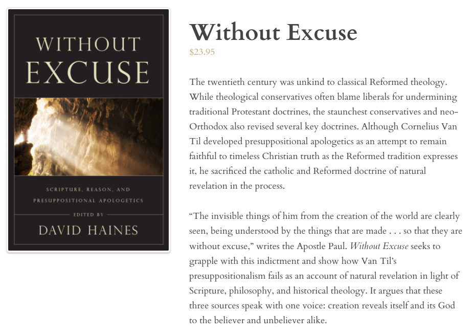 Without Excuse Indeed!